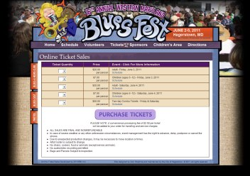 Blues Fest Online Ticket Sales Developed by DH WEB