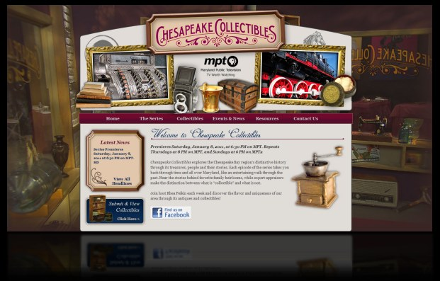 Chesapeake Collectibles Website Design by DH WEB