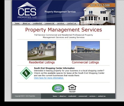 CES Properties Website Designed by DH WEB