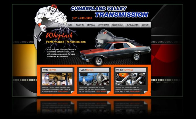 DH WEB Website Design Cumberland Valley Transmissions
