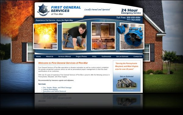 DH WEB Website Design for First General Services of Pen-Mar