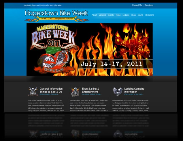 DH WEB Website Design for Hagerstown Bike Week