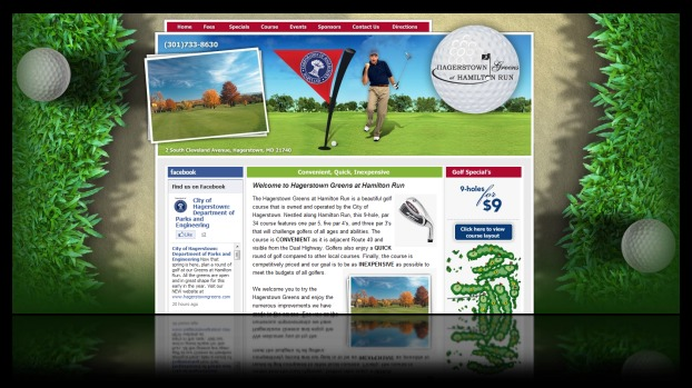 DH WEB Website Design for Hagerstown Greens