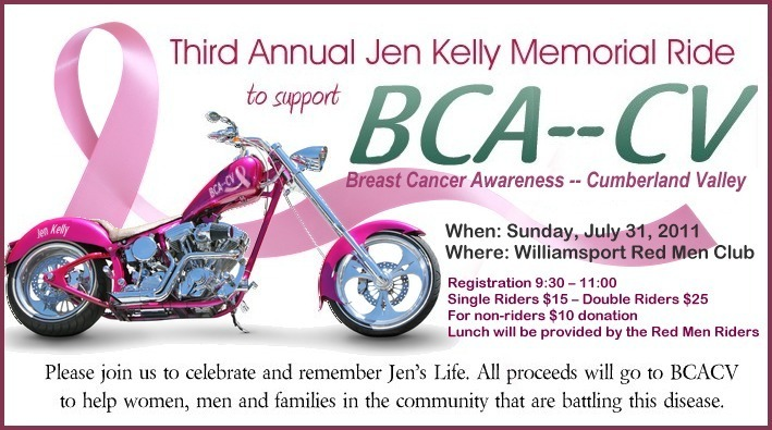 DH WEB Website Design for Jen Kelly Memorial Ride Registration