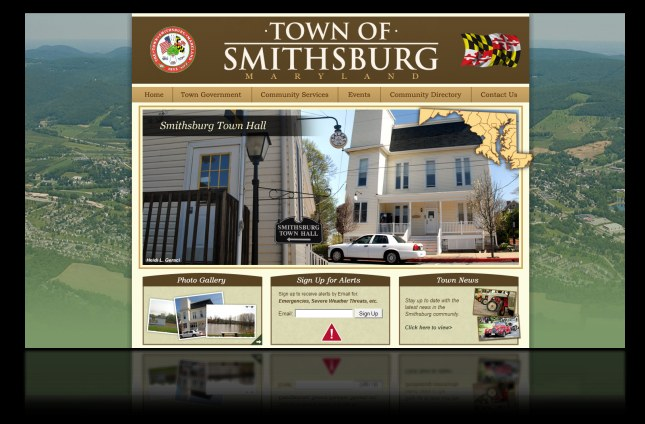 DH WEB Website Design for The Town of Smithsburg