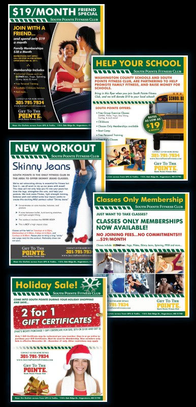 DH WEB designed print flyers for South Pointe Fitness