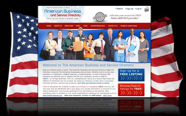 DH WEB Website Design for The American Business and Service Directory